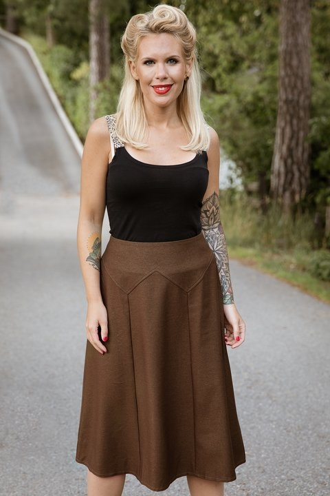 Gold Brown Skirt Large