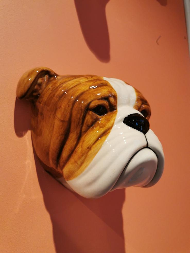 Veggvase Stor Engelsk Bulldog