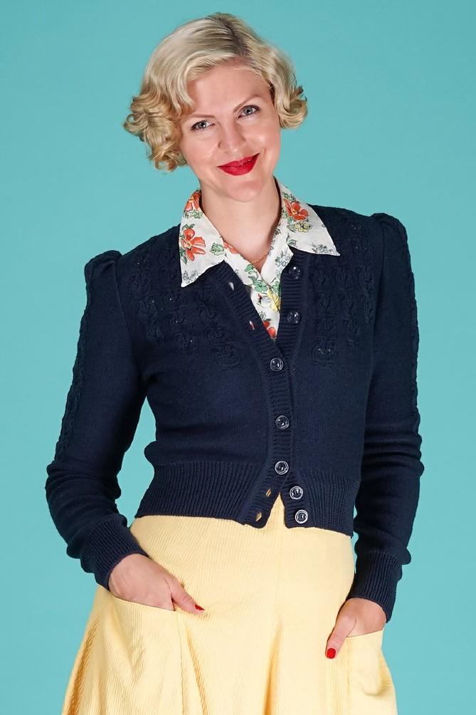 Peggy Sue Cardigan Navy