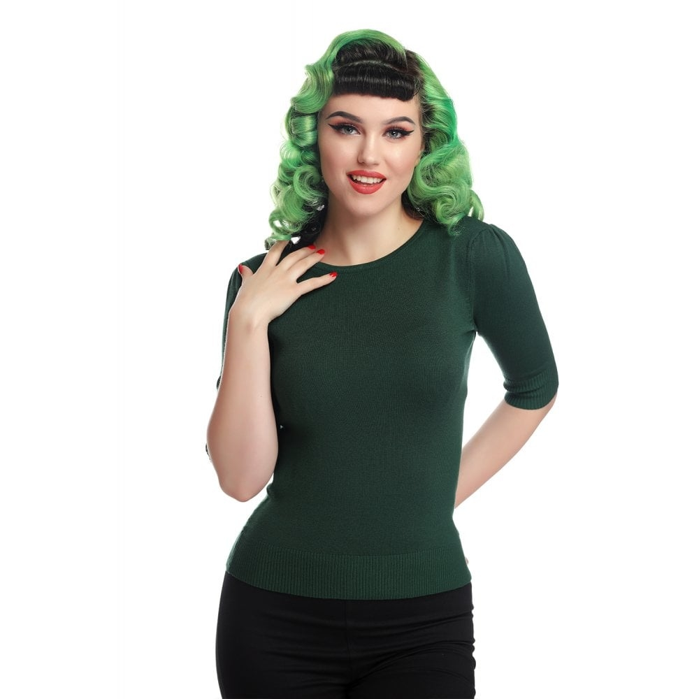 Chrissie Plain Green Knitted Top