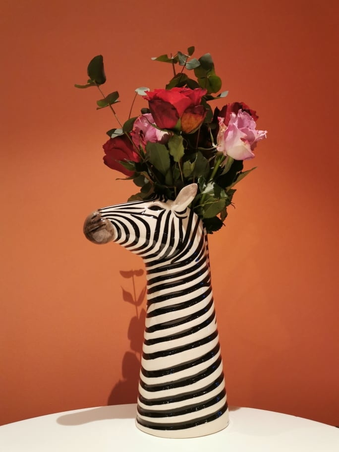 Blomstervase Zebra