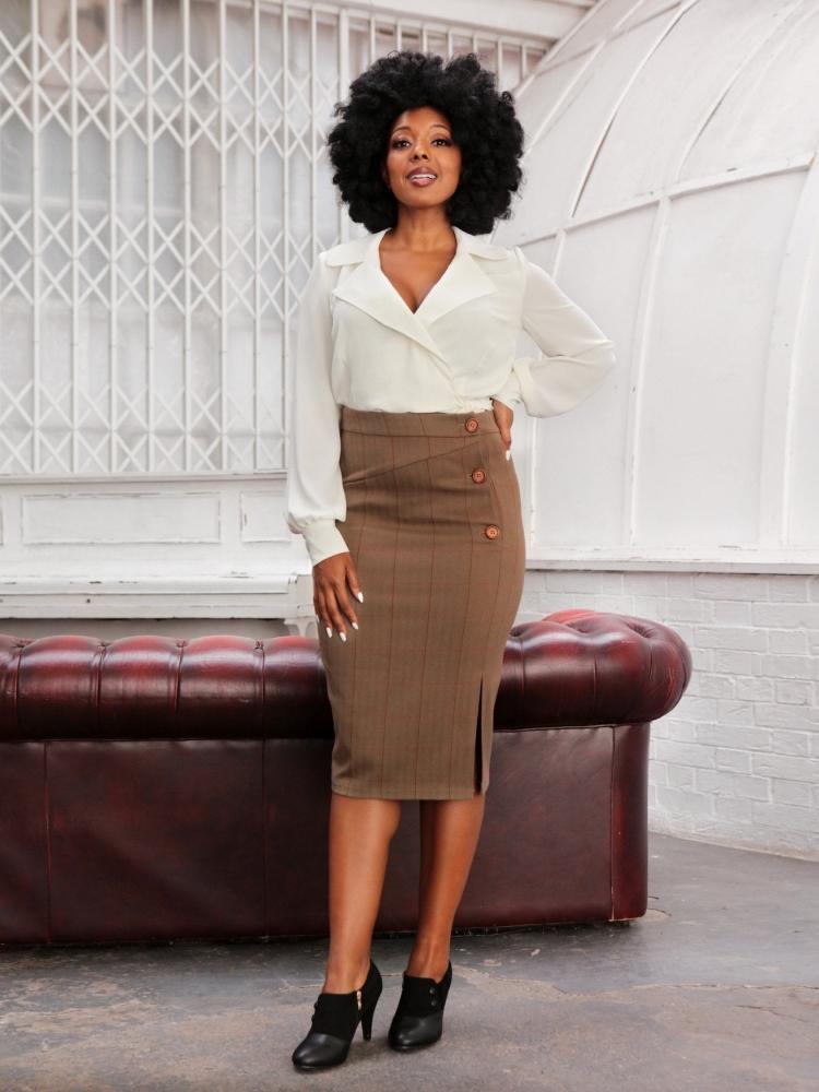 Sloan Pencil Skirt Str L