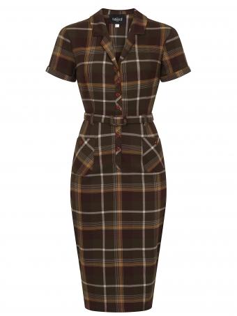 Caterina Mosshill Check Pencil Dress