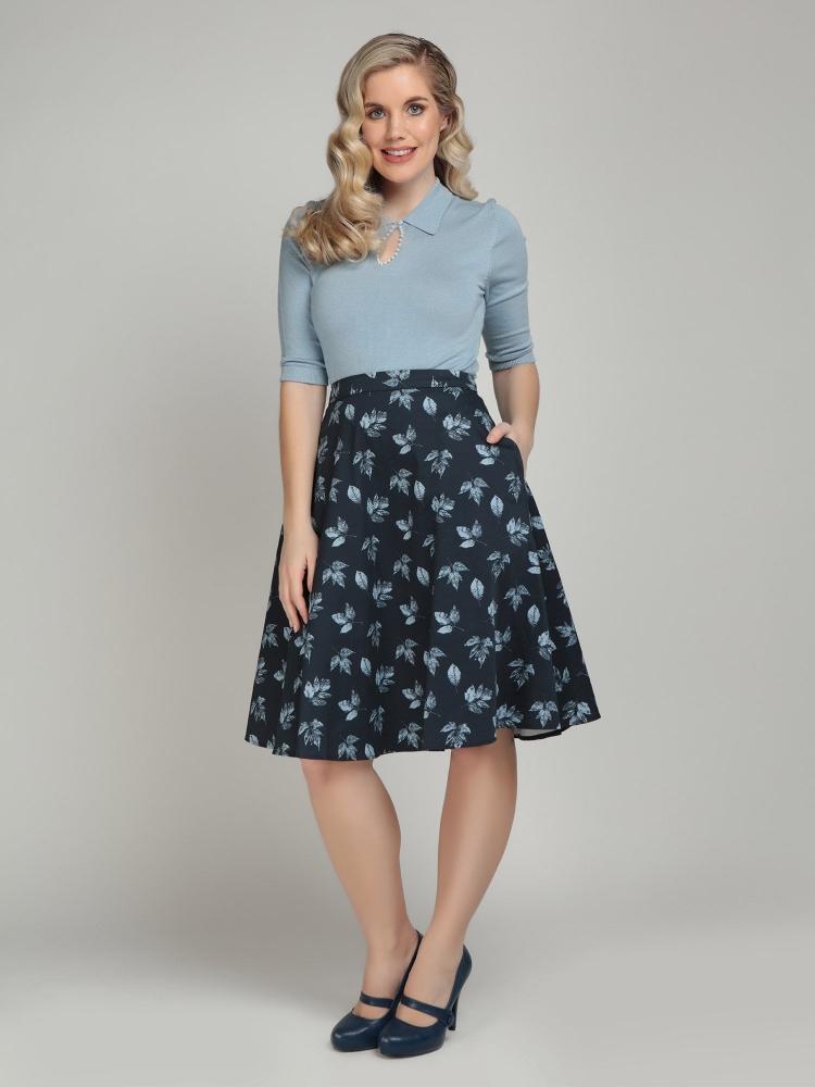 Mattie Fall Leaves Swing Skirt
