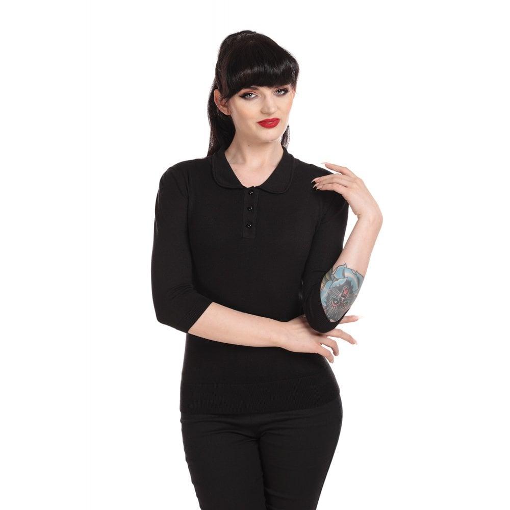 Jorgie Knitted Polo Black