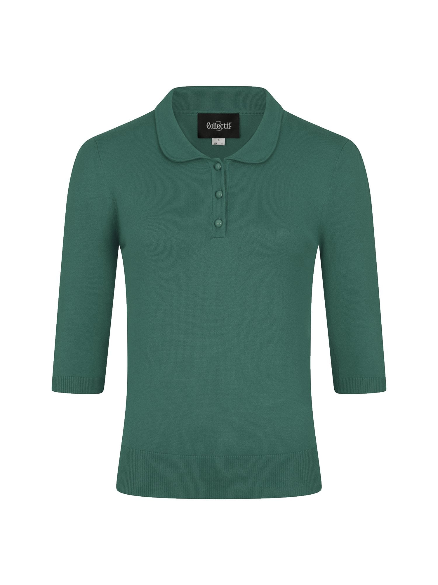 Jorgie Knitted Polo Green