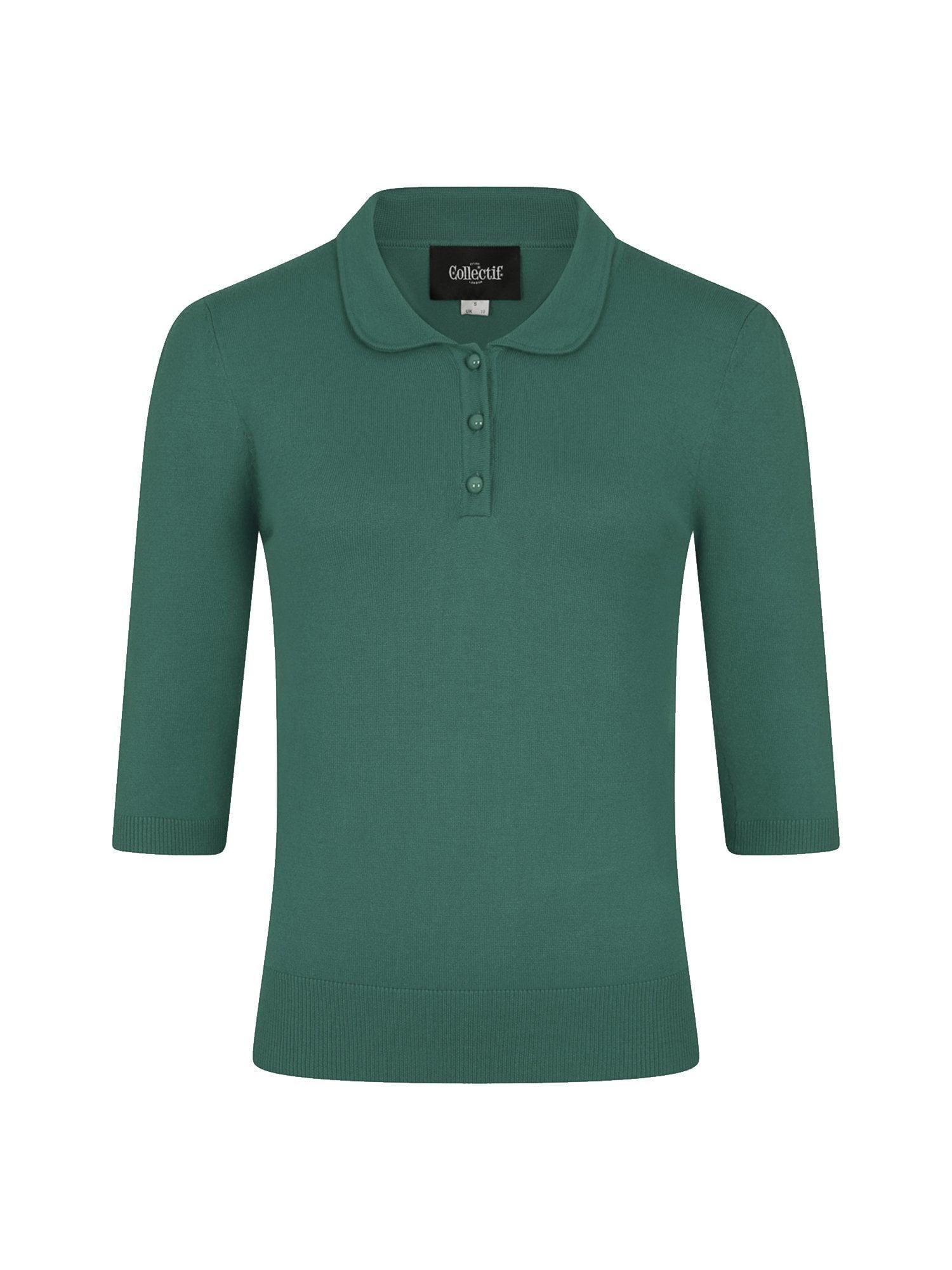 Jorgie Knitted Polo Green 3XL