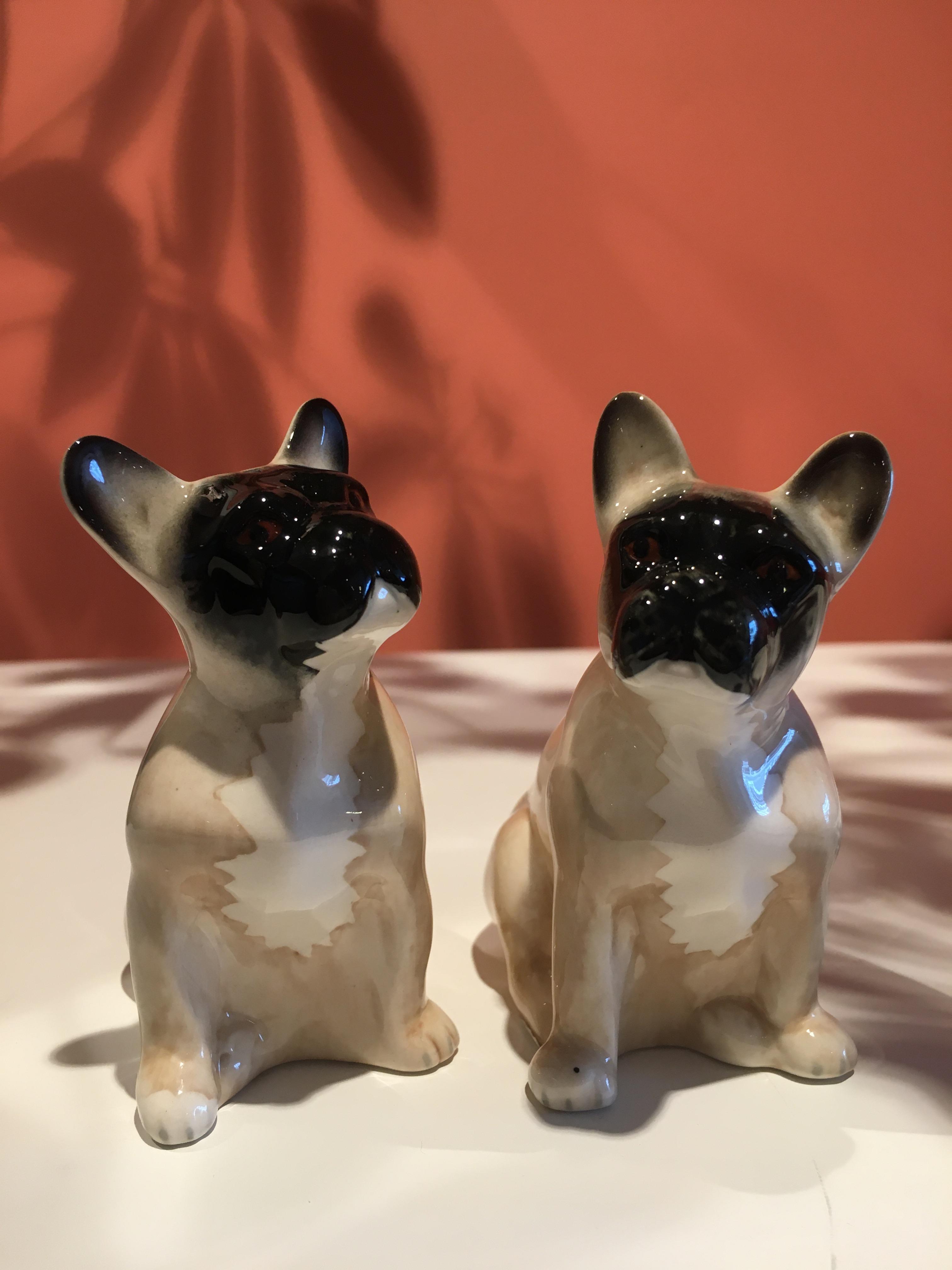 Salt og Pepper French Bulldog lys
