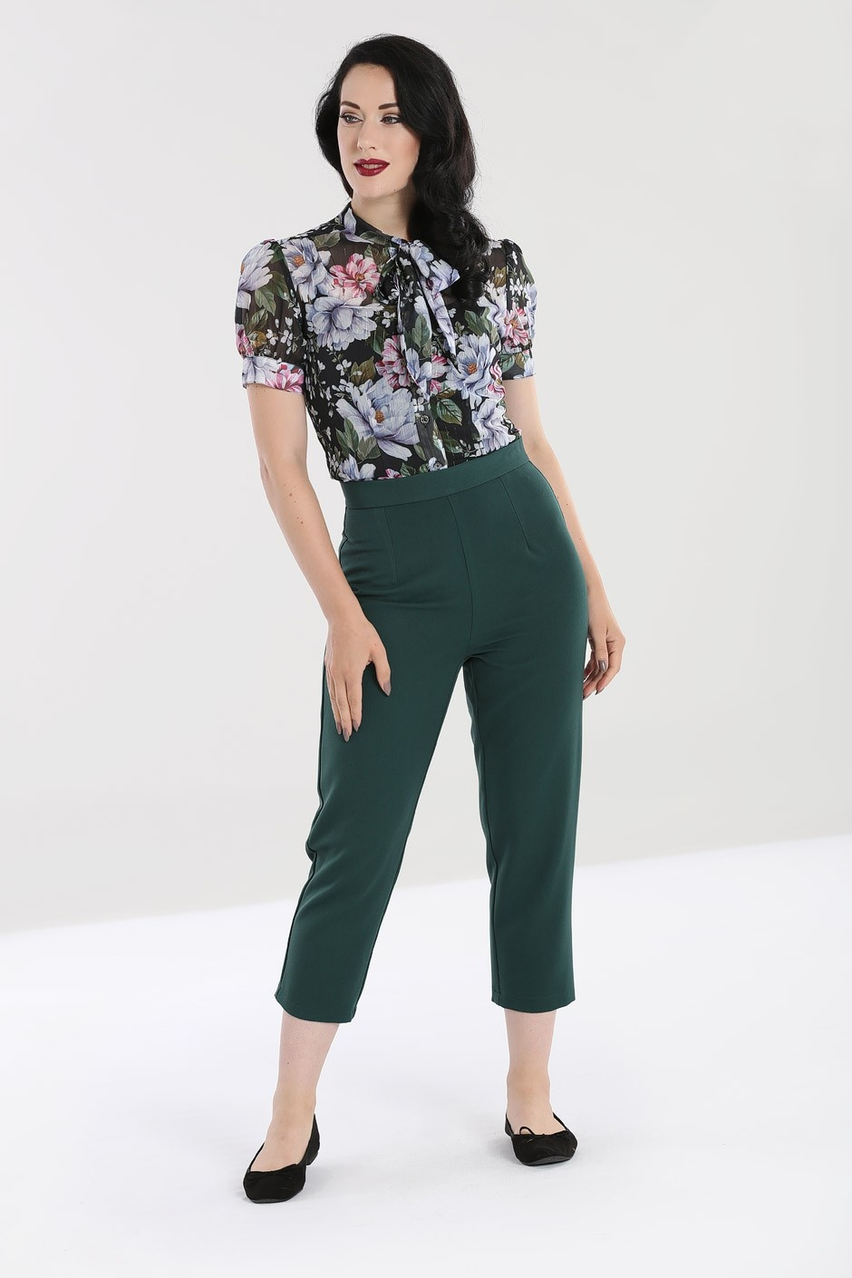 Charlie Cigarette Trousers Green