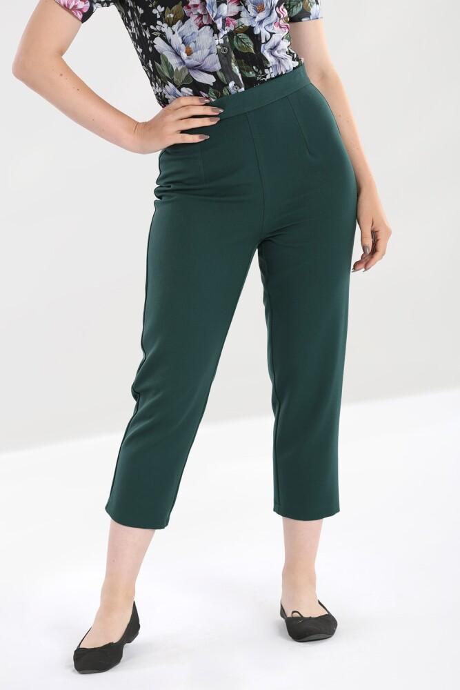 Charlie Cigarette Str L Trousers Green - bakside
