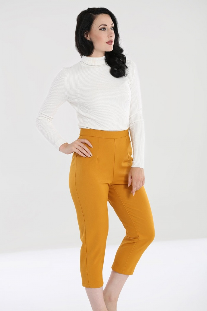 Amelie Cigarette Trousers Mustard