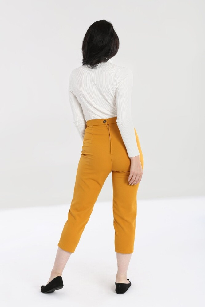 Amelie Cigarette Trousers Mustard - bakside