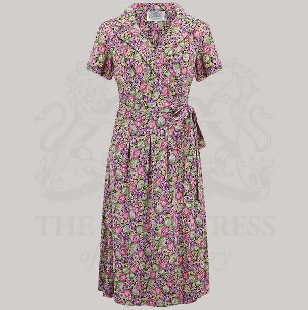 Peggy Wrap Dress - Lilac Floral
