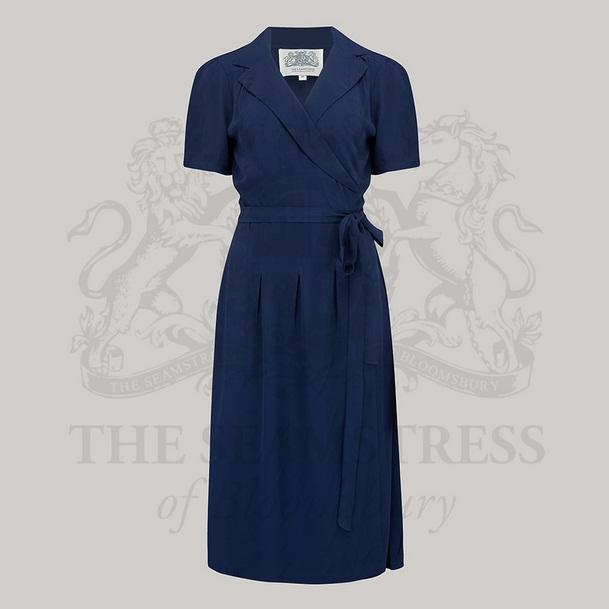 Peggy Wrap Dress - Navy
