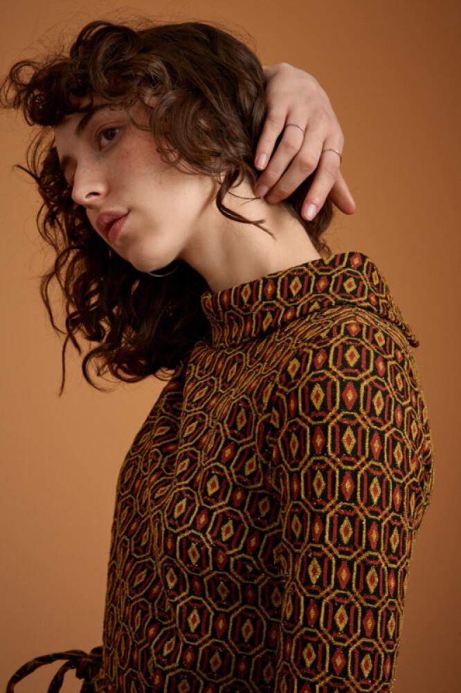 Dita Dress Honeycomb - bakside