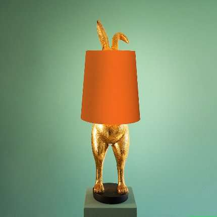 Kanin Bordlampe Oransj