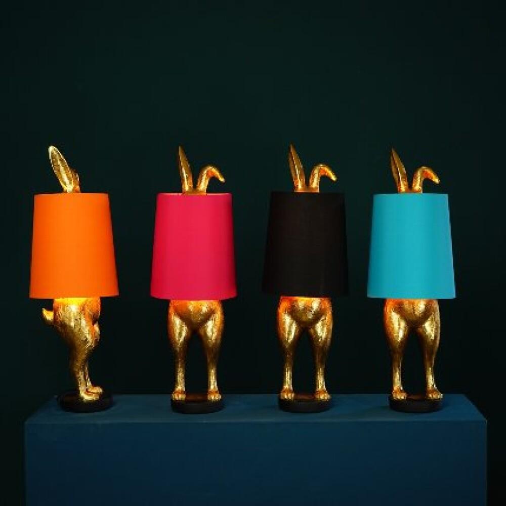 Kanin Bordlampe Oransj - bakside