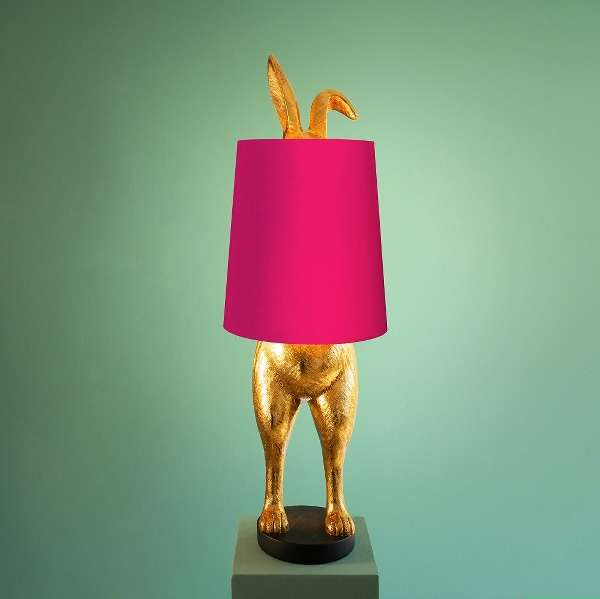 Kanin Bordlampe Rosa