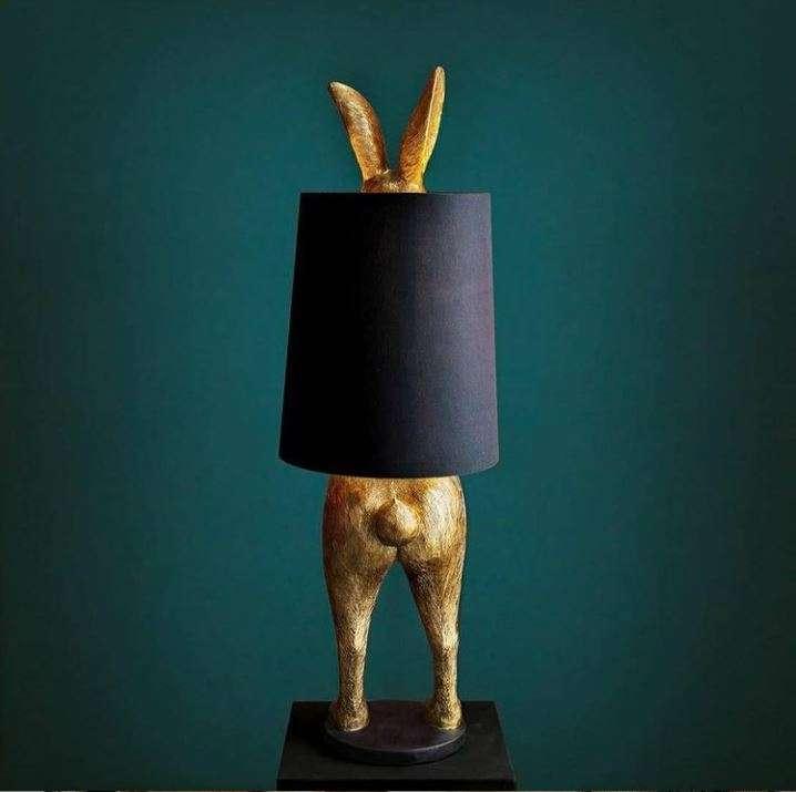 Kanin Bordlampe Sort
