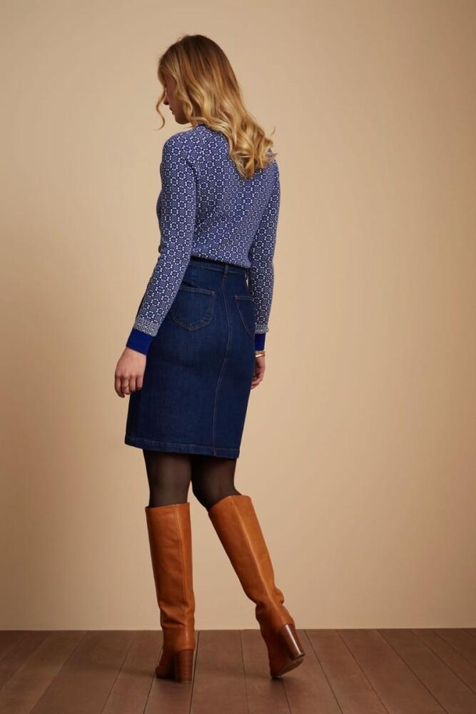 Angie Pocket Skirt Golden Denim - bakside