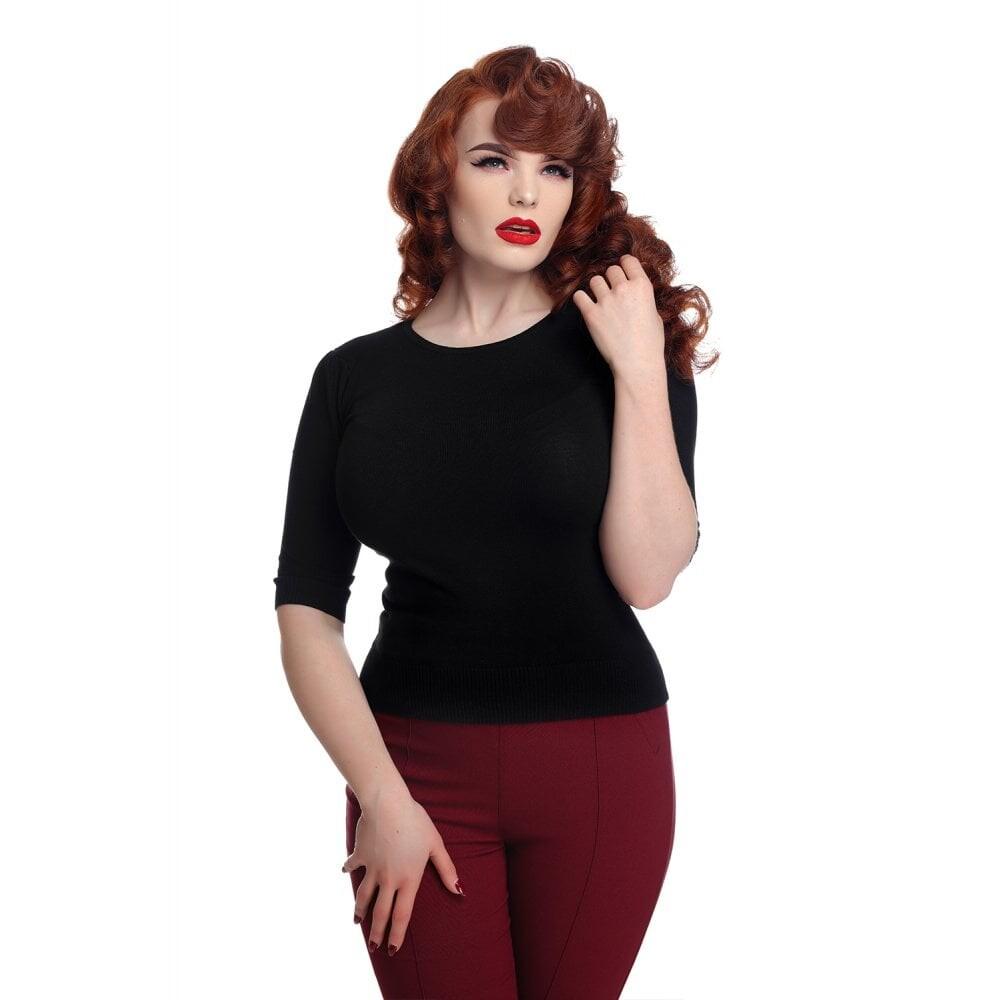 Chrissie Plain Black Knitted Top