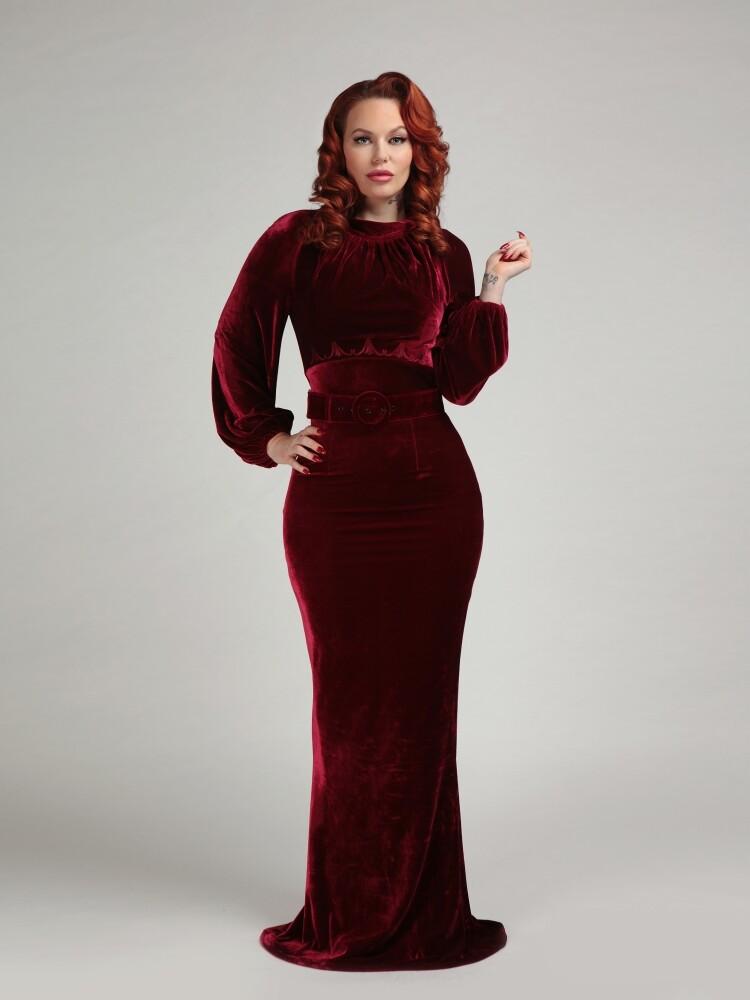 Selenia Velvet Dress