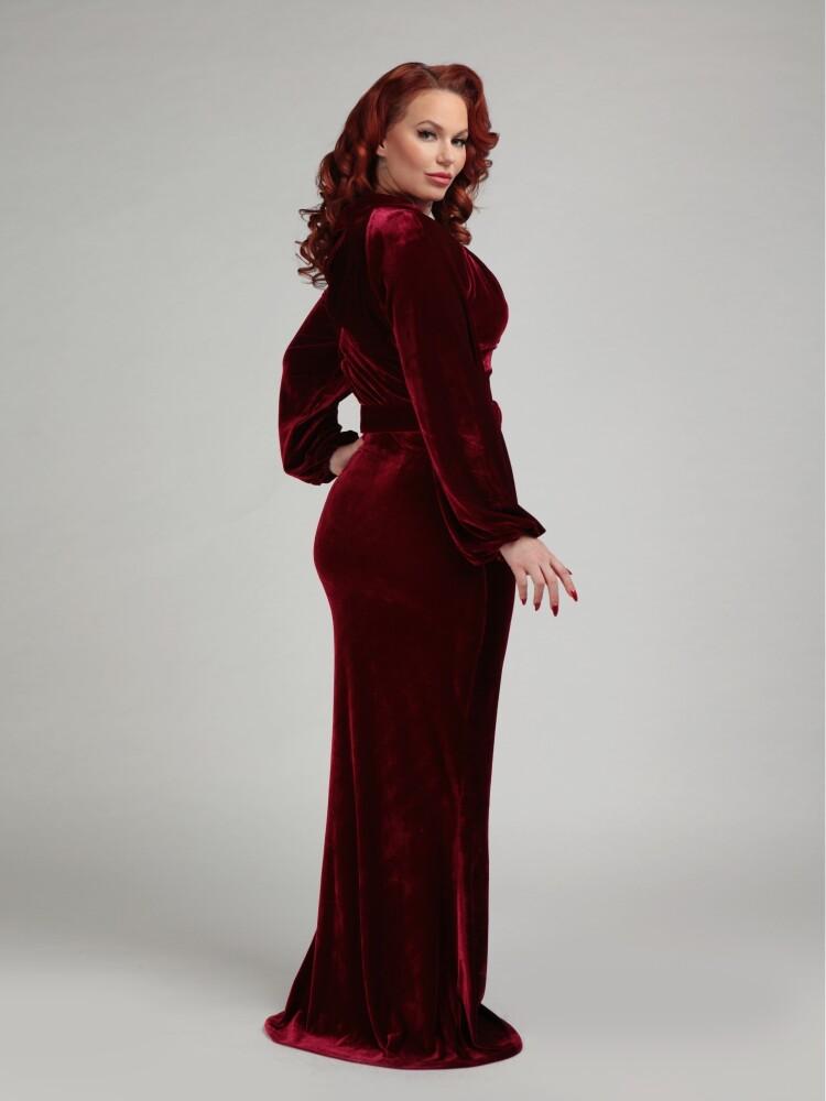 Selenia Velvet Dress - bakside
