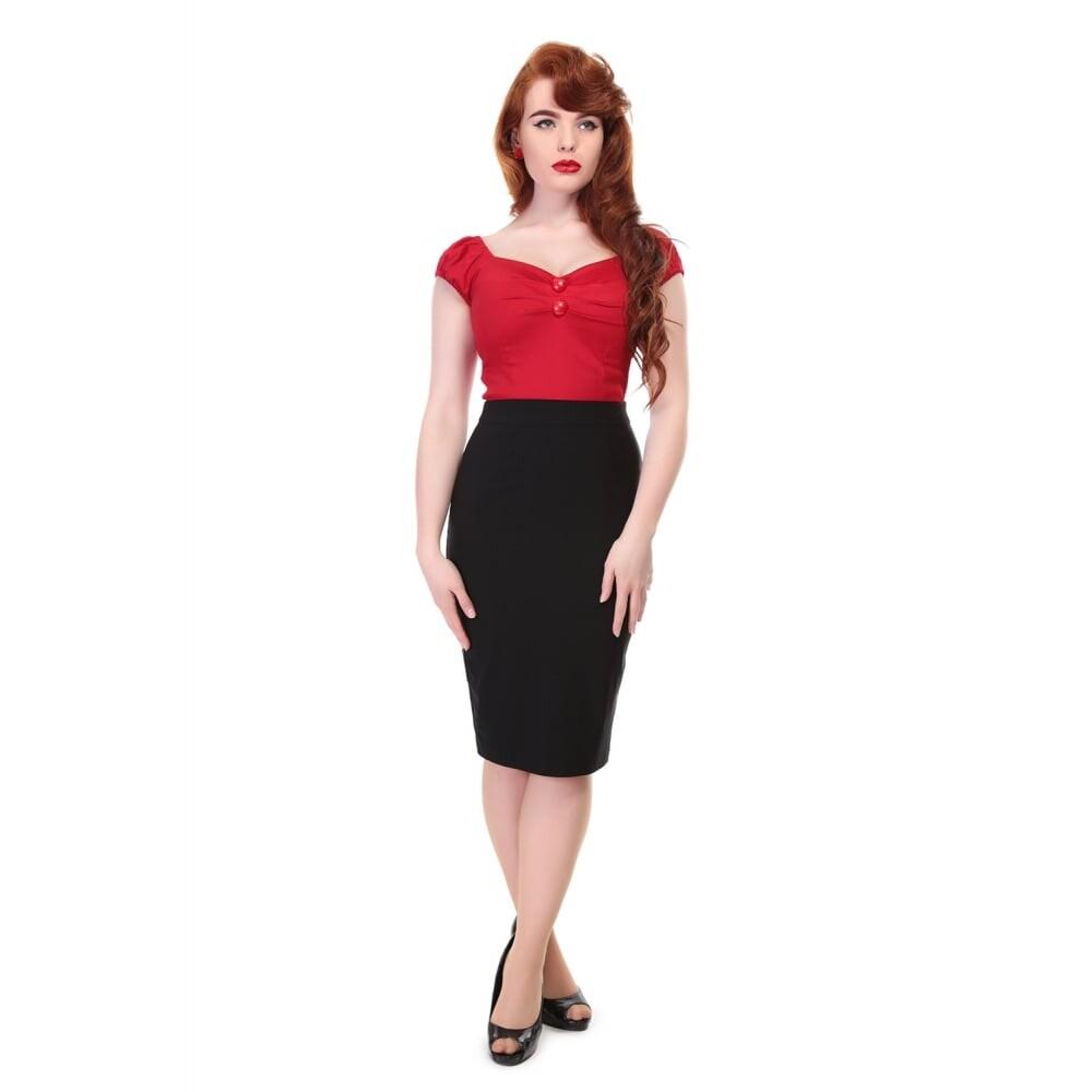Polly Plain Bengaline Skirt - bakside