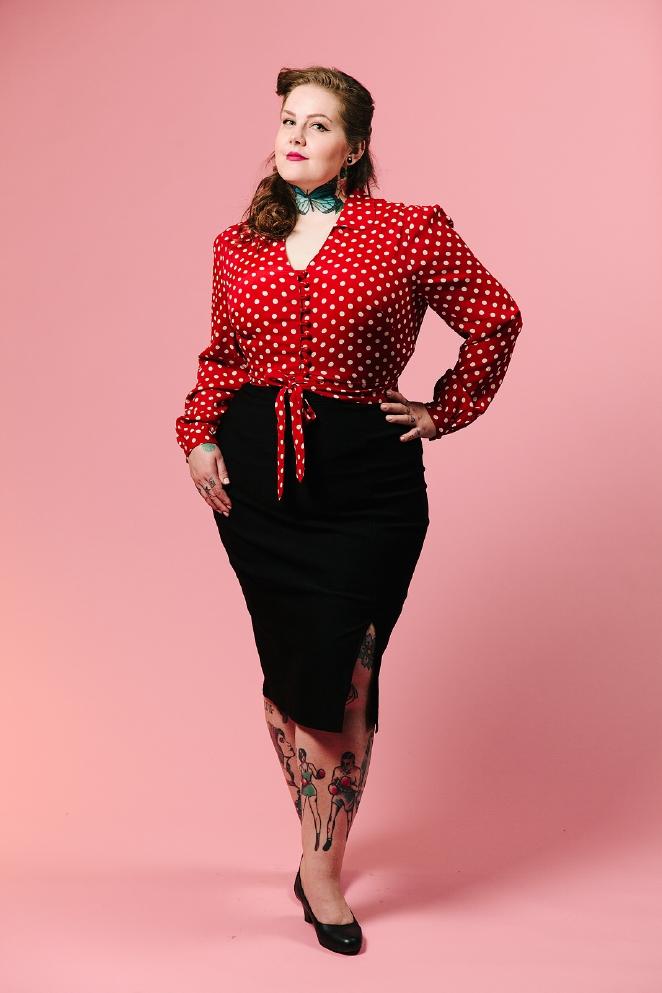 Betty Boop Pencil Skirt - Plus Size