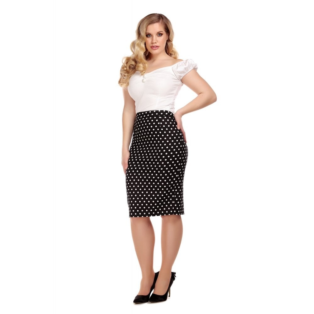 Polly Polka Pencil Skirt