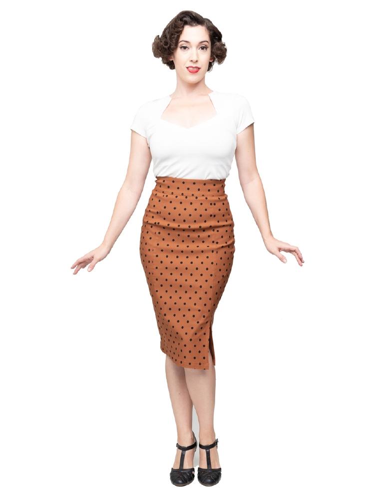 Betty Boop Pencil Skirt Polka